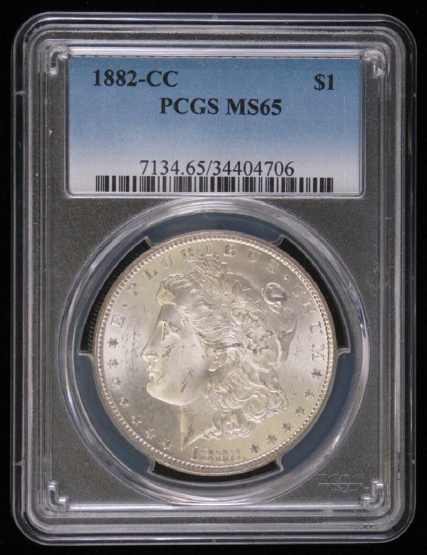1882-CC Morgan Dollar PCGS MS65