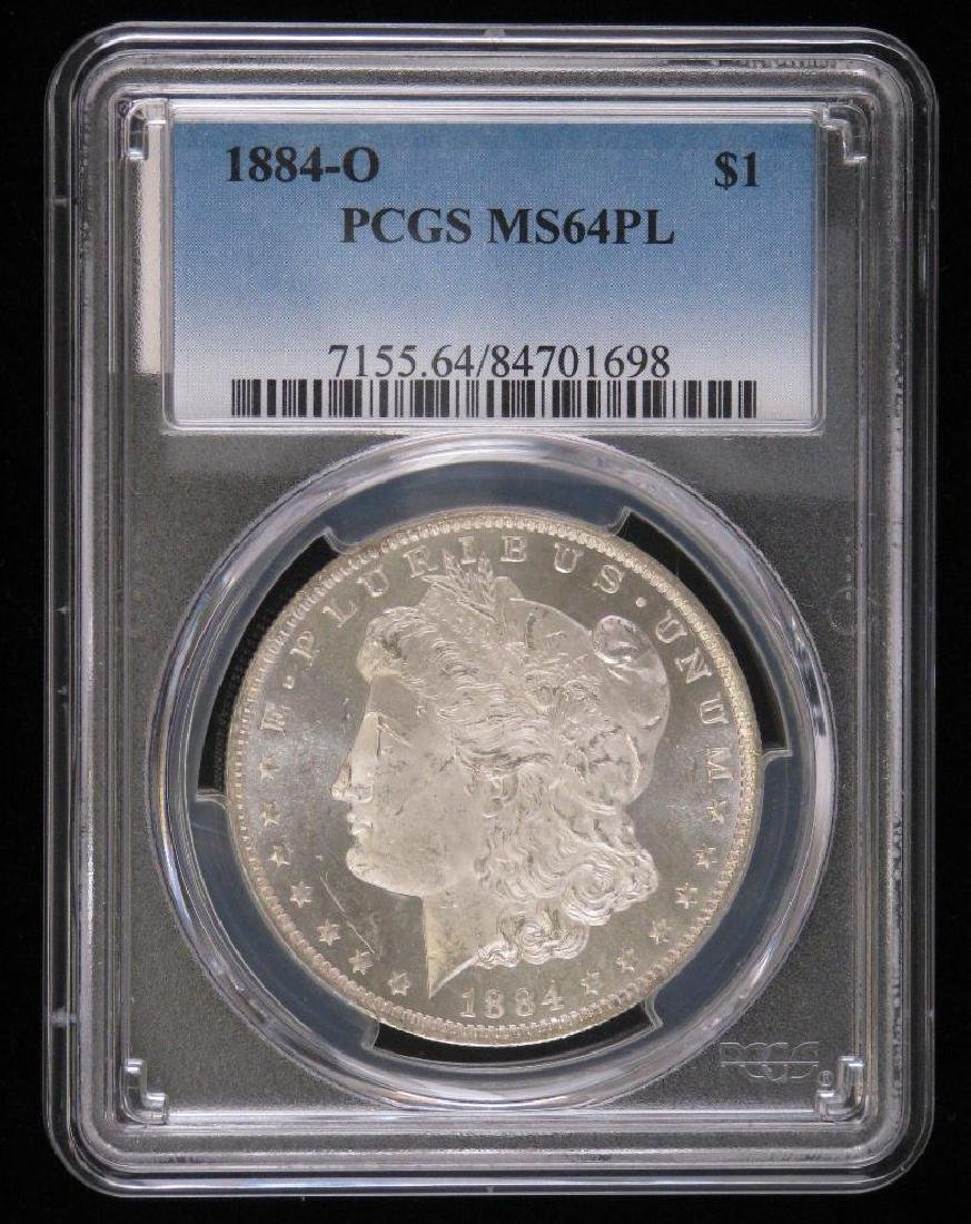 1884-O Morgan Dollar PCGS MS64PL