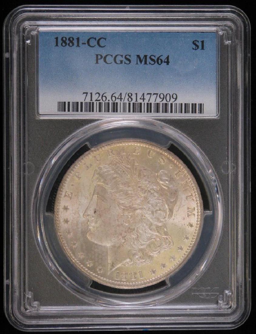 1881-CC Morgan Dollar PCGS MS64