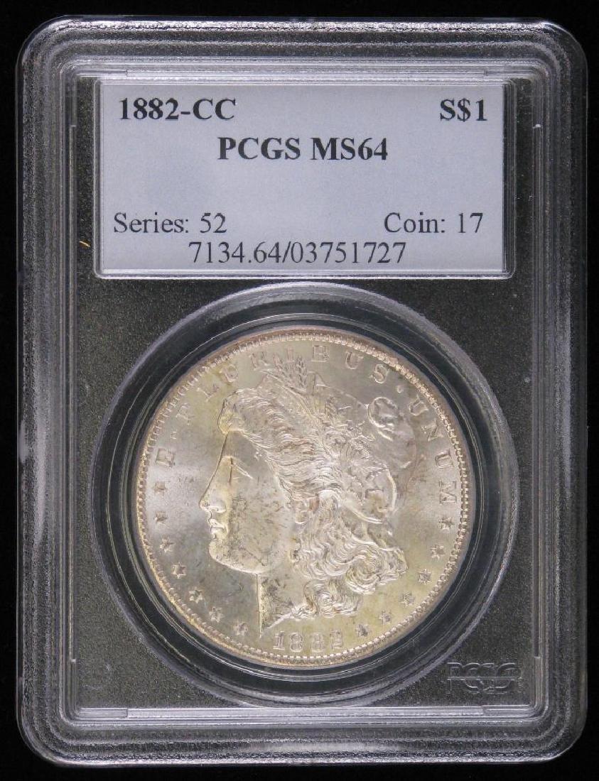 1882-CC Morgan Dollar PCGS MS64