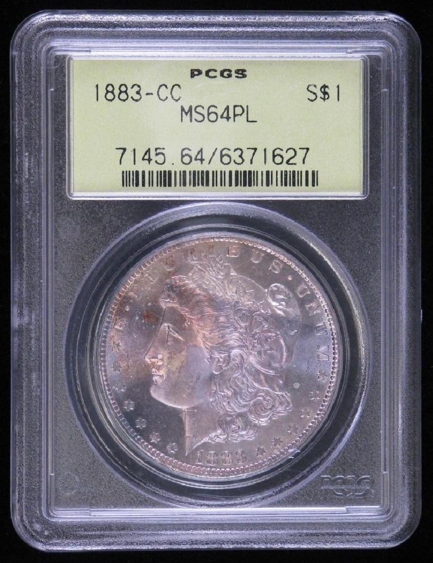 1883-CC Morgan Dollar PCGS MS64PL