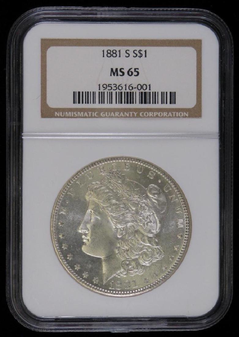 1881-S Morgan Dollar NGC MS65