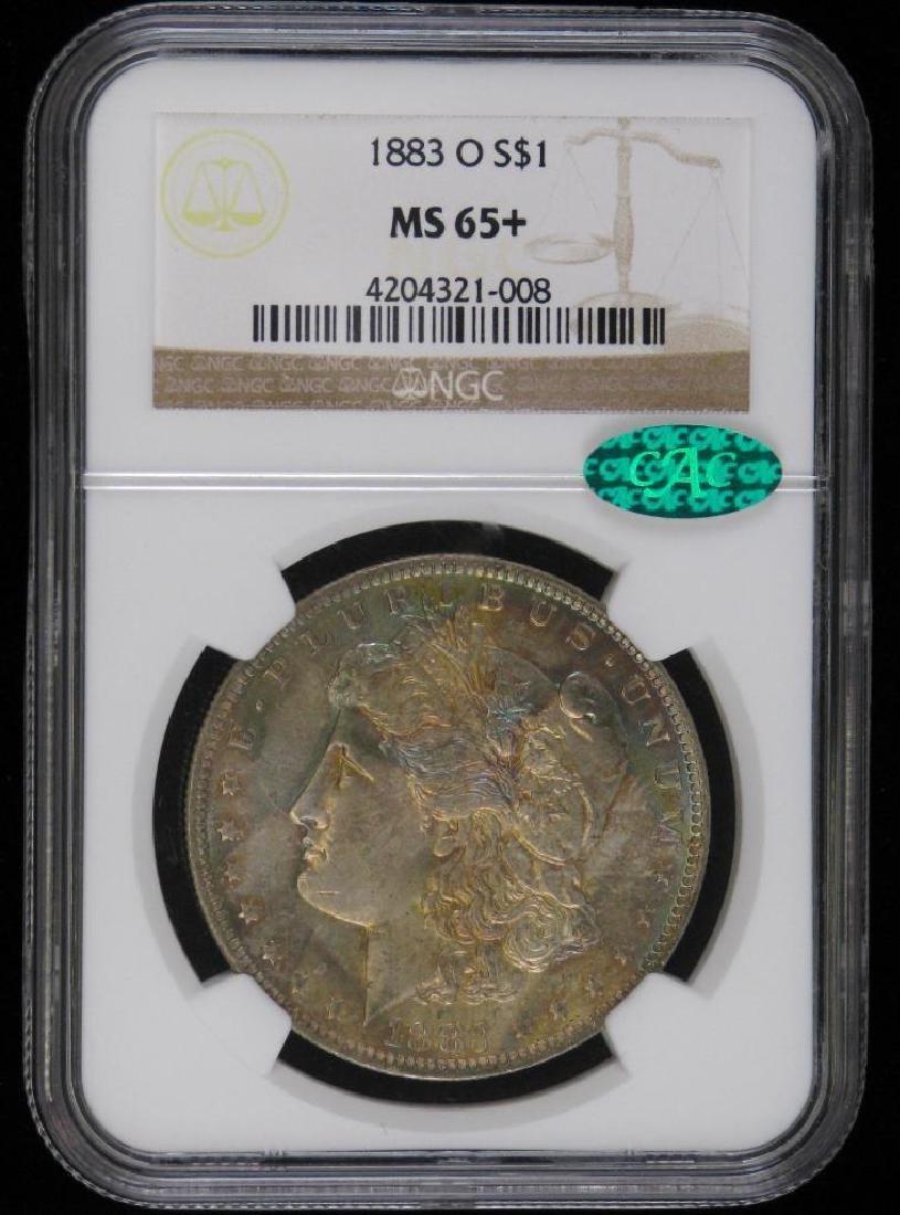 1883-O Morgan Dollar NGC MS65+ CAC