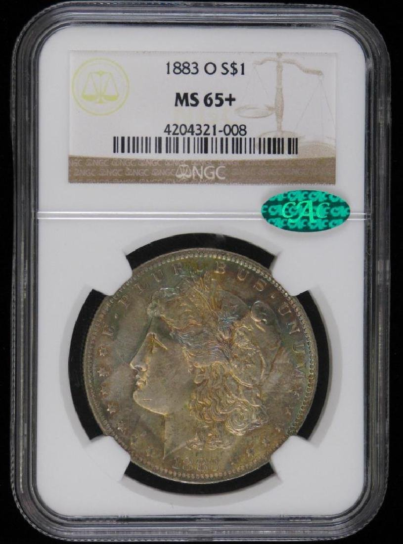 1883-O Morgan Dollar NGC MS65+ CAC