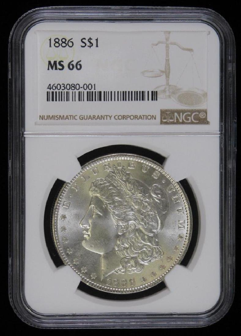 1886-P Morgan Dollar NGC MS66