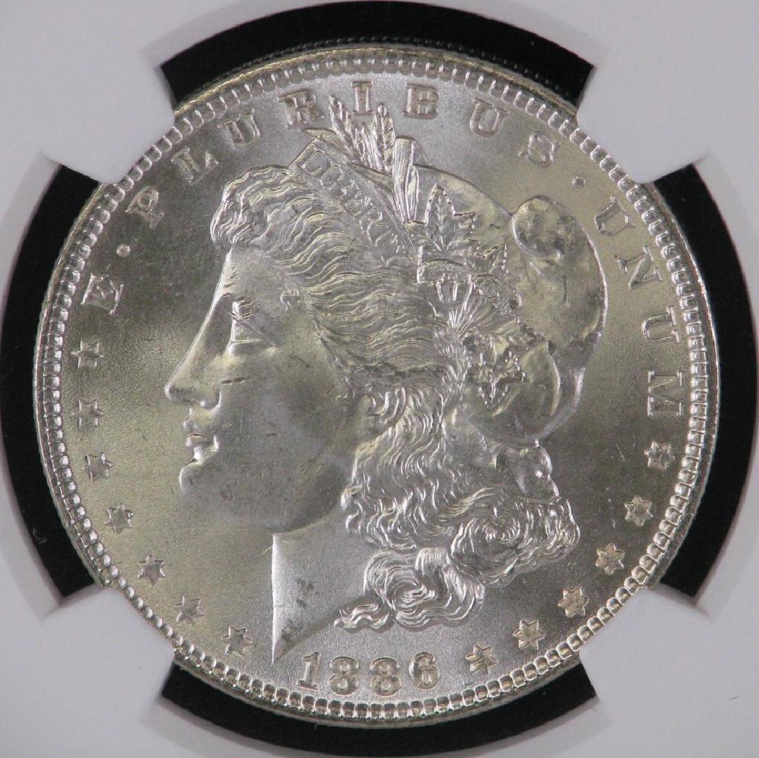 1886-P Morgan Dollar NGC MS66 - 3