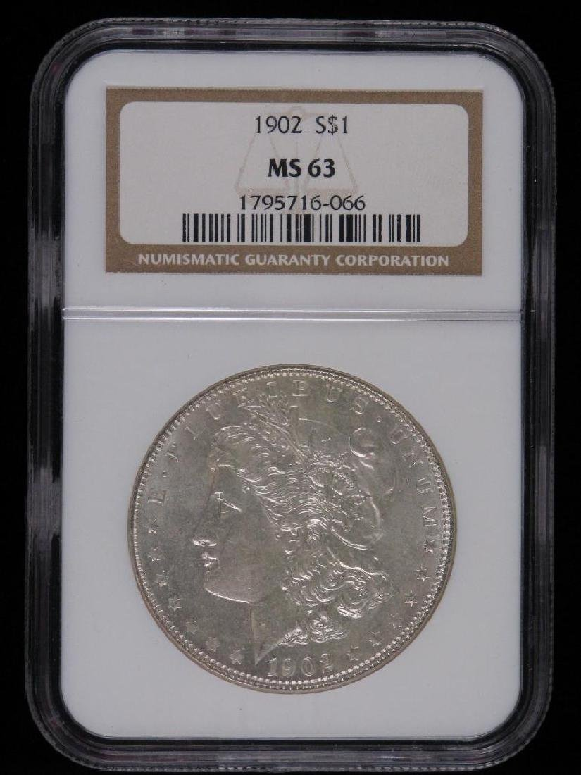 1902-PÊMorgan Dollar NGC MS63