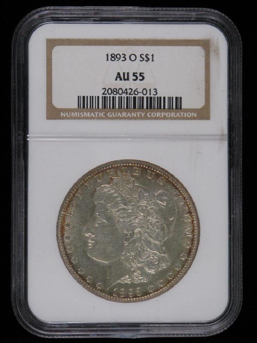 1893-O Morgan Dollar NGC AU55