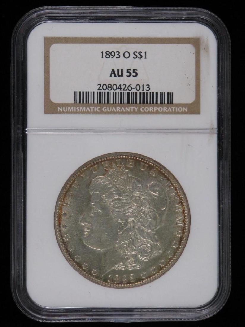 1893-O Morgan Dollar NGC AU55