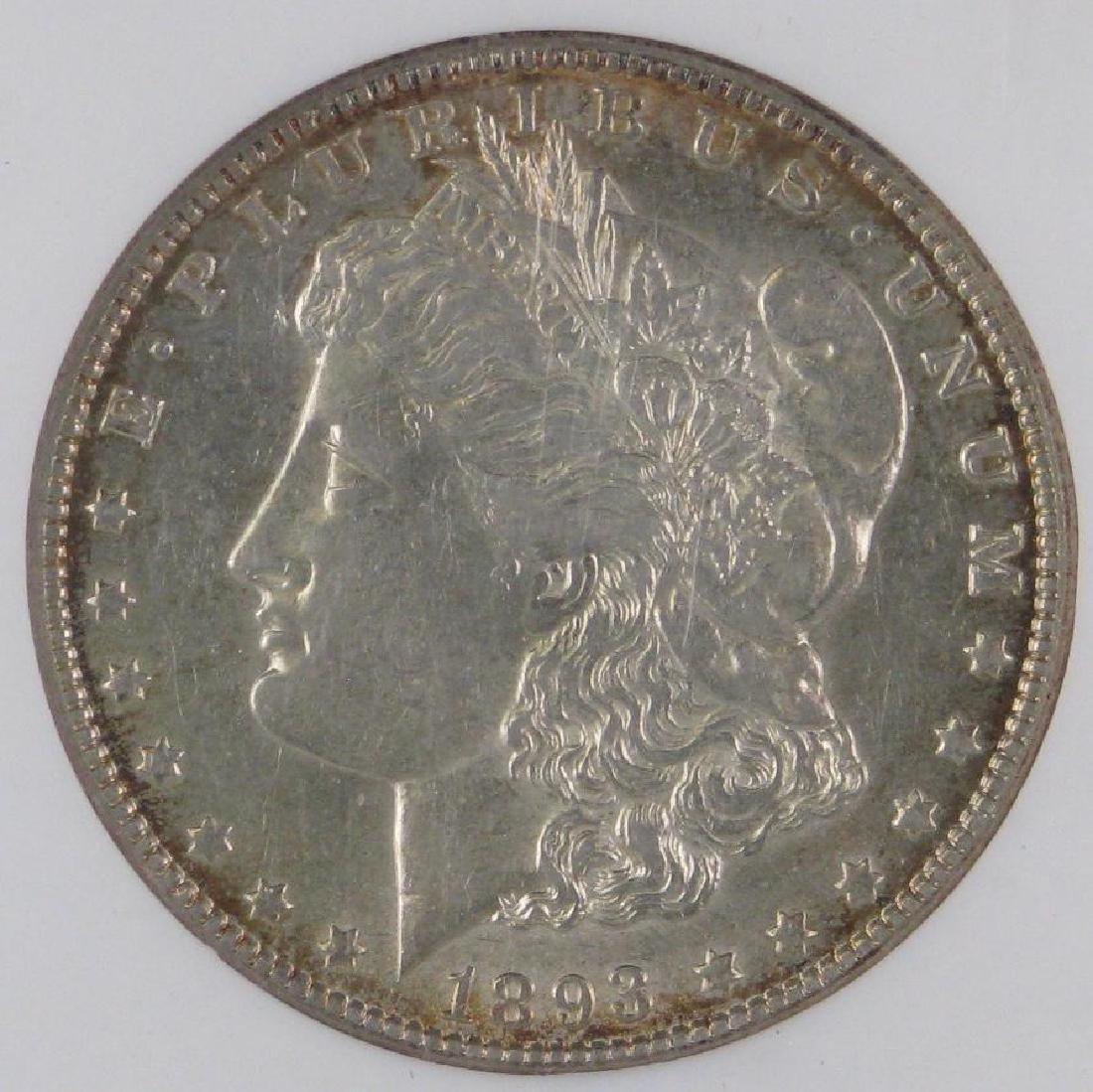 1893-O Morgan Dollar NGC AU55 - 3