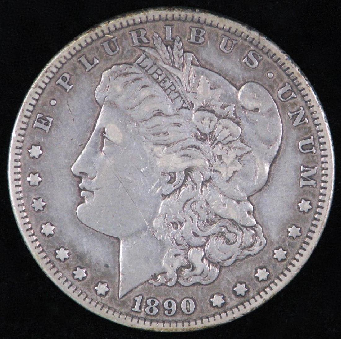 1890-CC Morgan Dollar