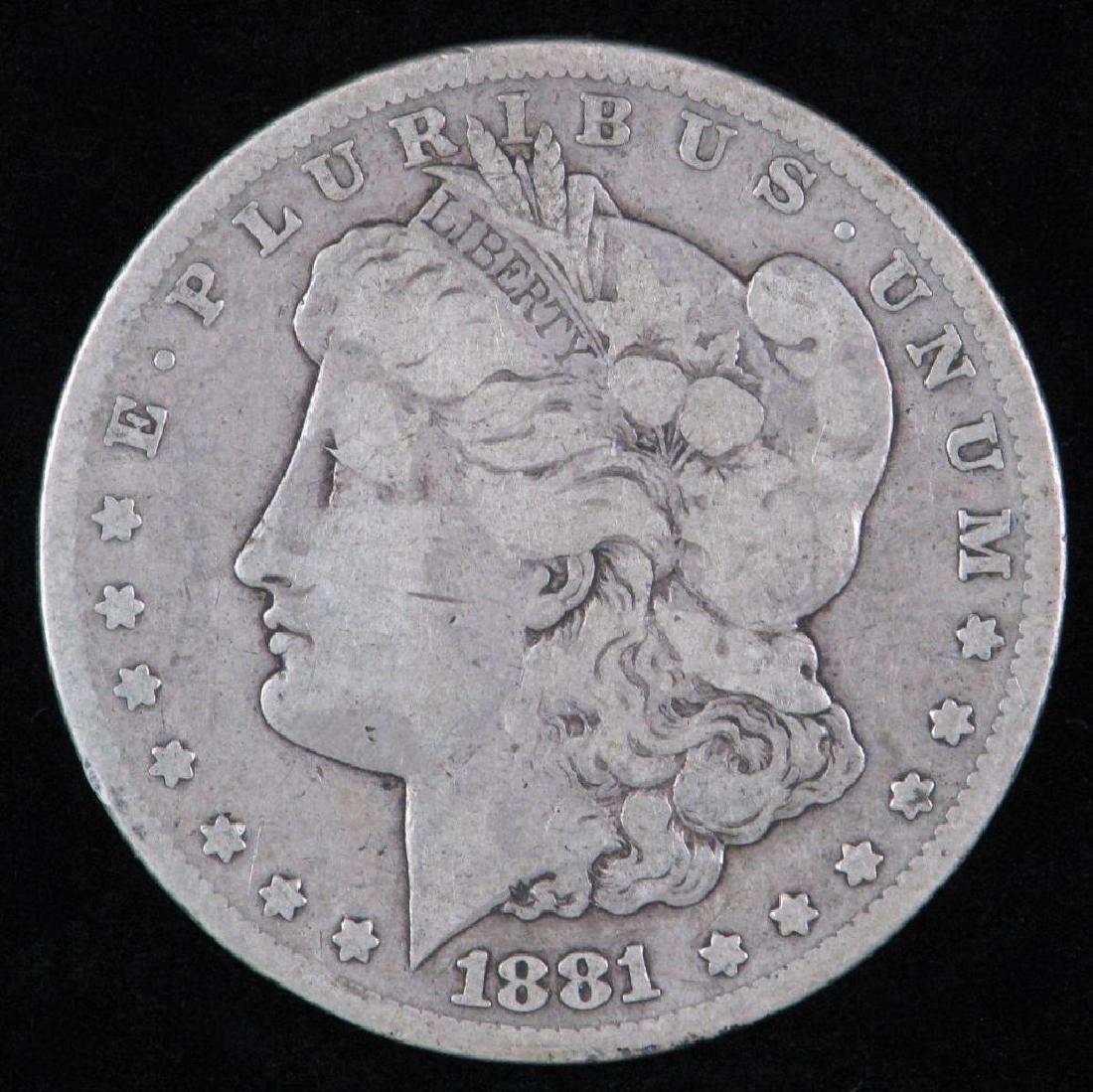 1881-CC Morgan Dollar