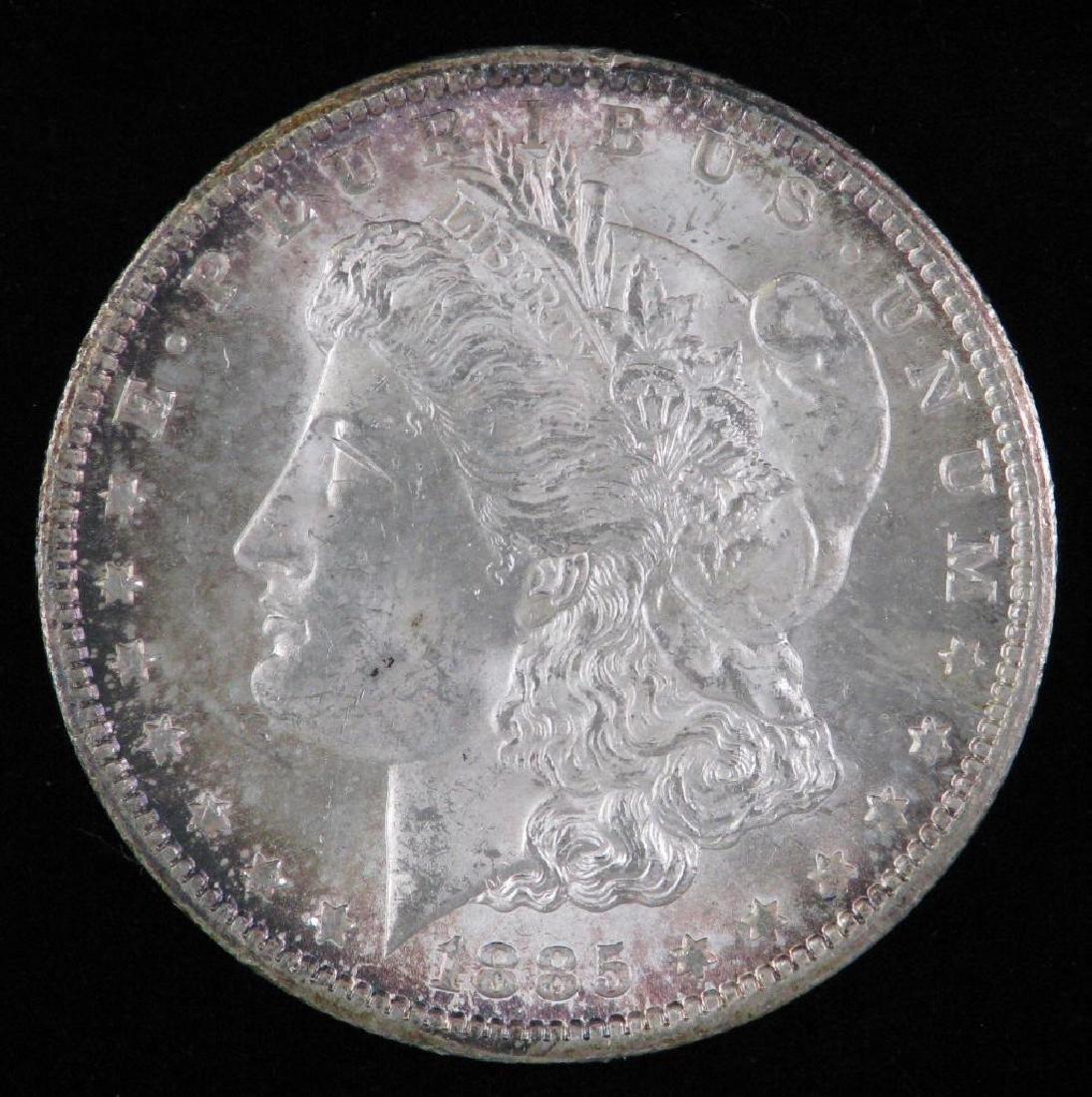 1885-CC Morgan Dollar BU
