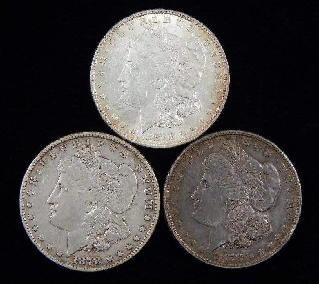 Lot of 3 : Morgan Dollars (1878-P)