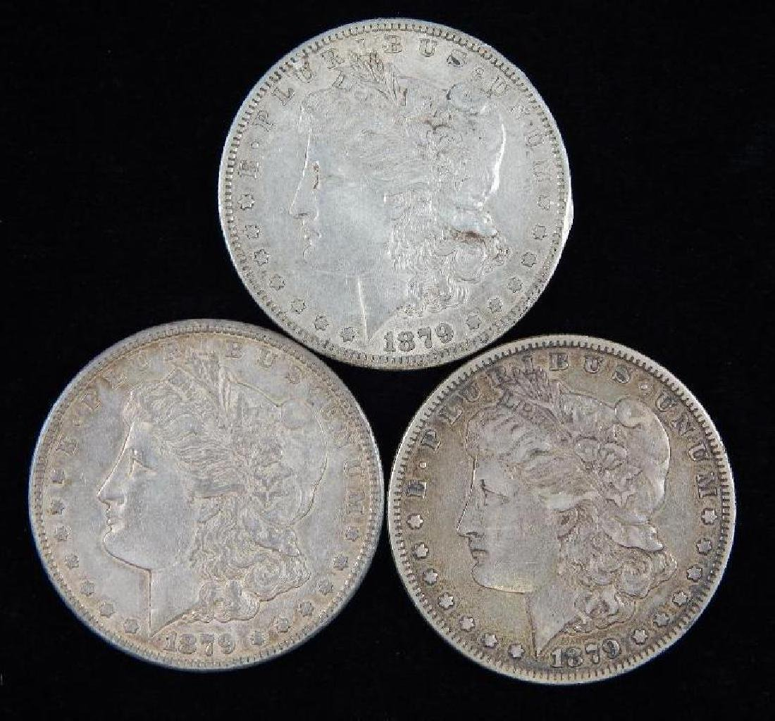 Lot of 3 : Morgan Dollars (1879)