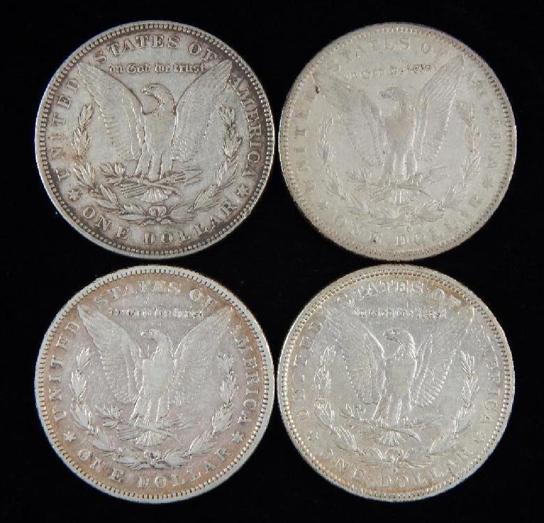 Lot of 4 : Morgan Dollars (1880-1881) - 2