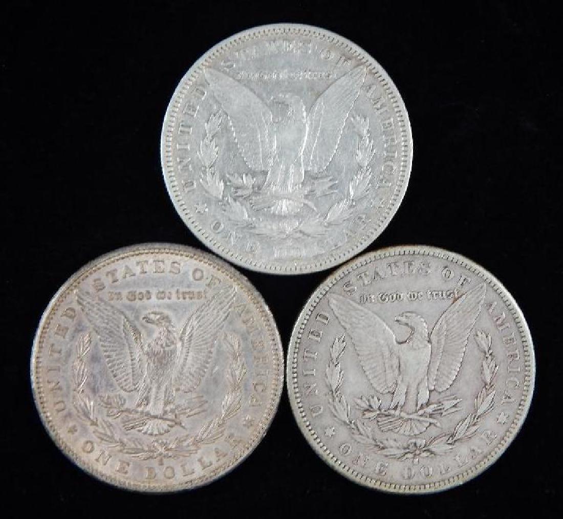 Lot of 3 : Morgan Dollars (1884-1887) - 2