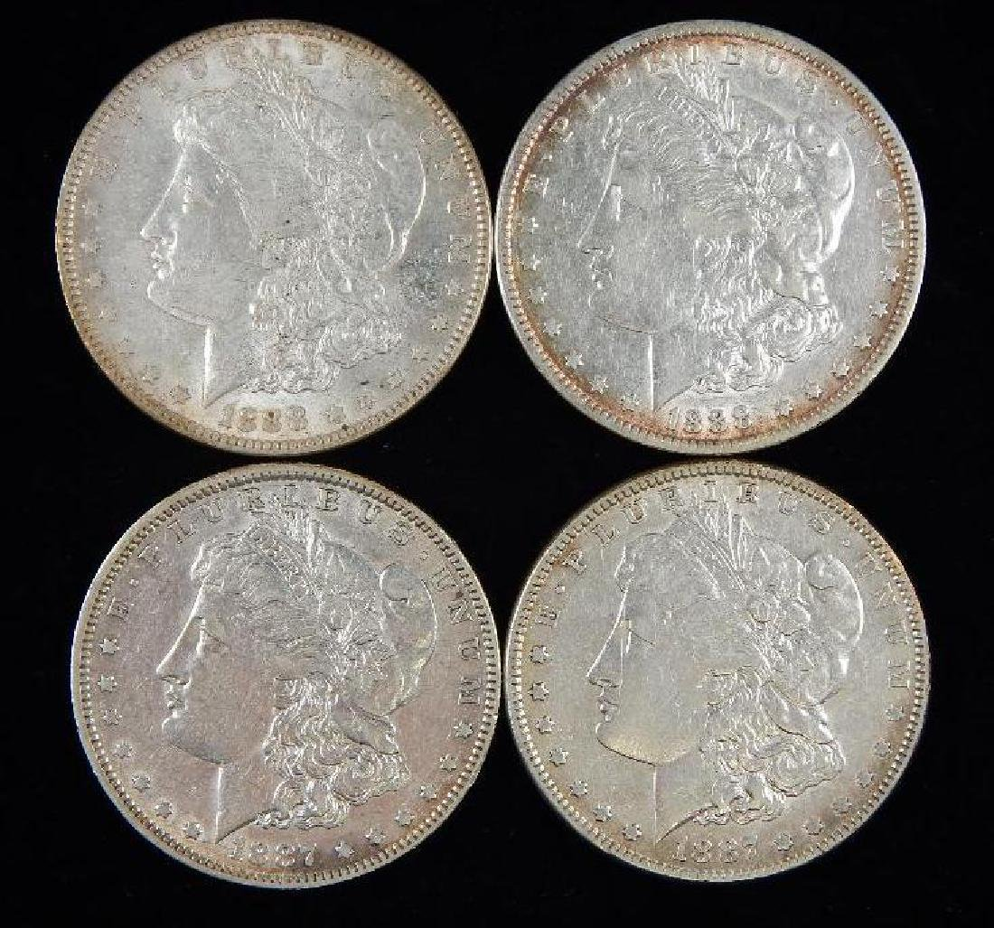 Lot of 4 : Morgan Dollars (1887-1888)