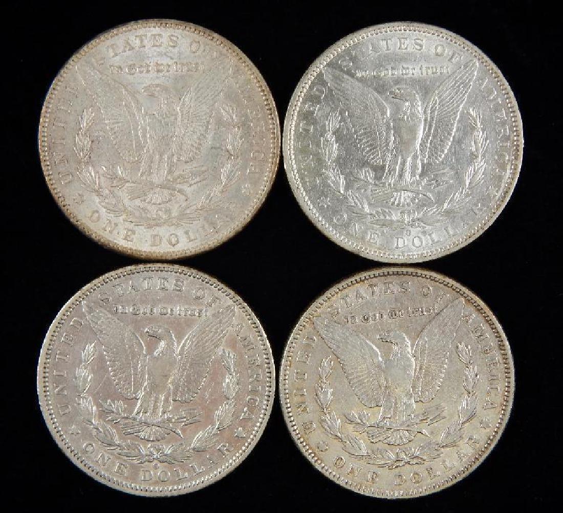 Lot of 4 : Morgan Dollars (1887-1888) - 2