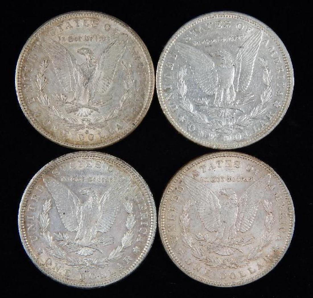 Lot of 4 : Morgan Dollars (1889-1891) - 2