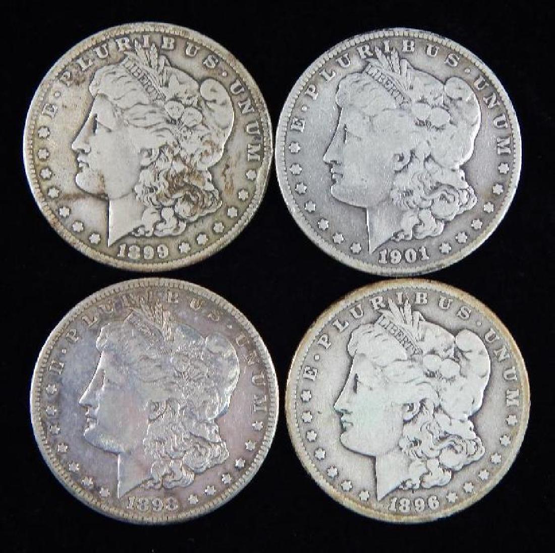 Lot of 4 : Morgan Dollars (1896-1901)