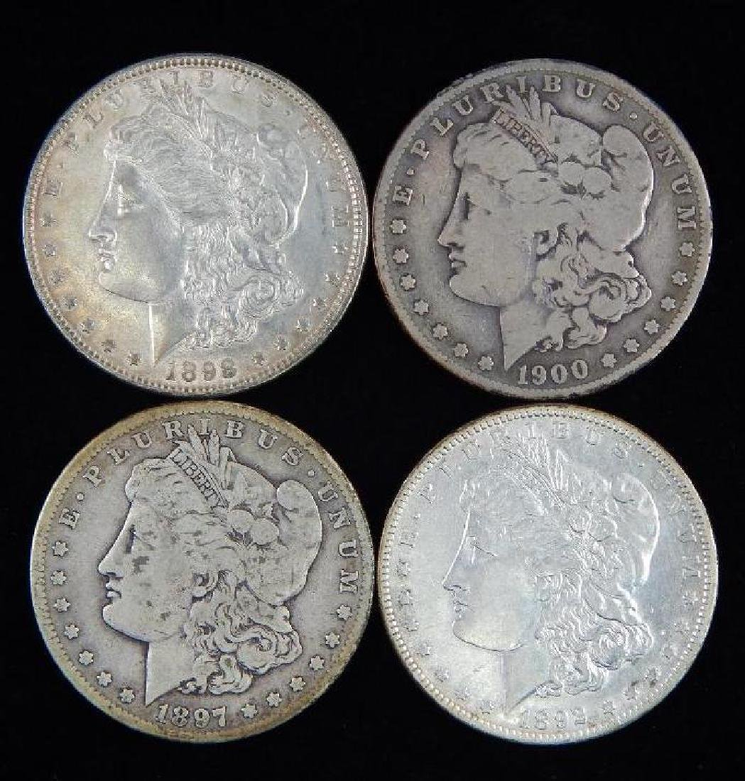 Lot of 4 : Morgan Dollars (1892-1900)