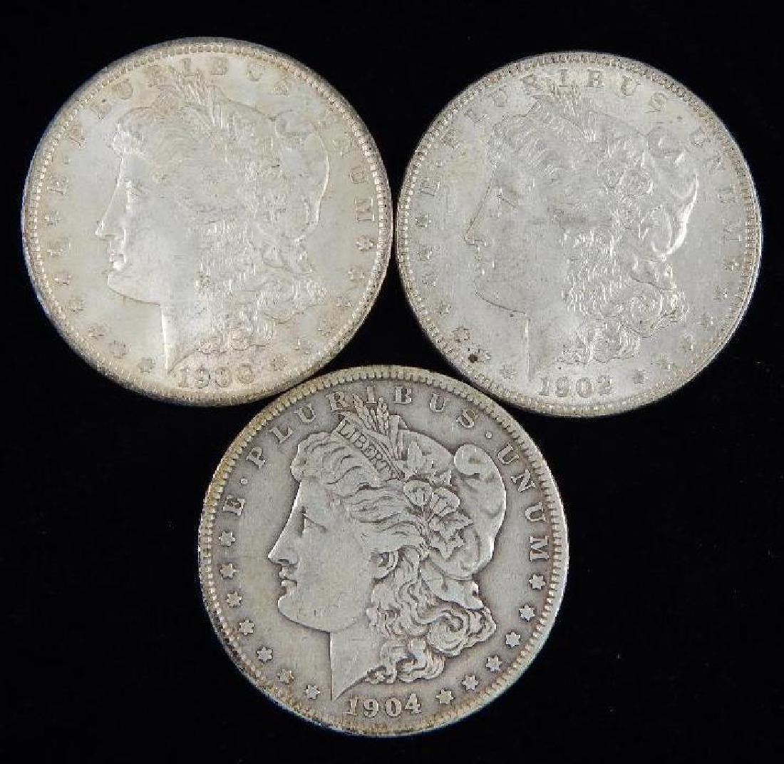 Lot of 3 : Morgan Dollars (1900-1904)