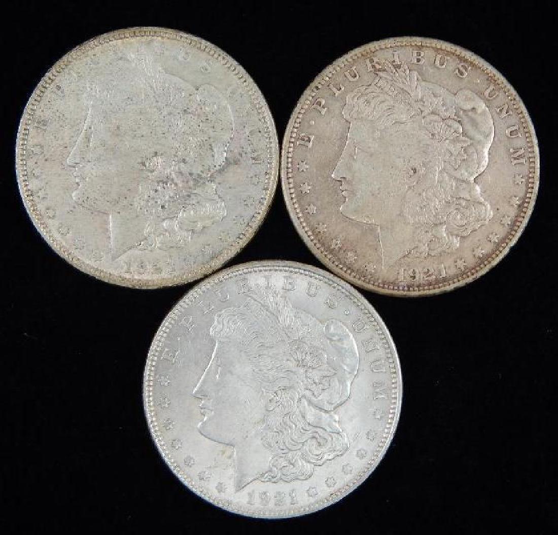 Lot of 3 : Morgan Dollars (1921)