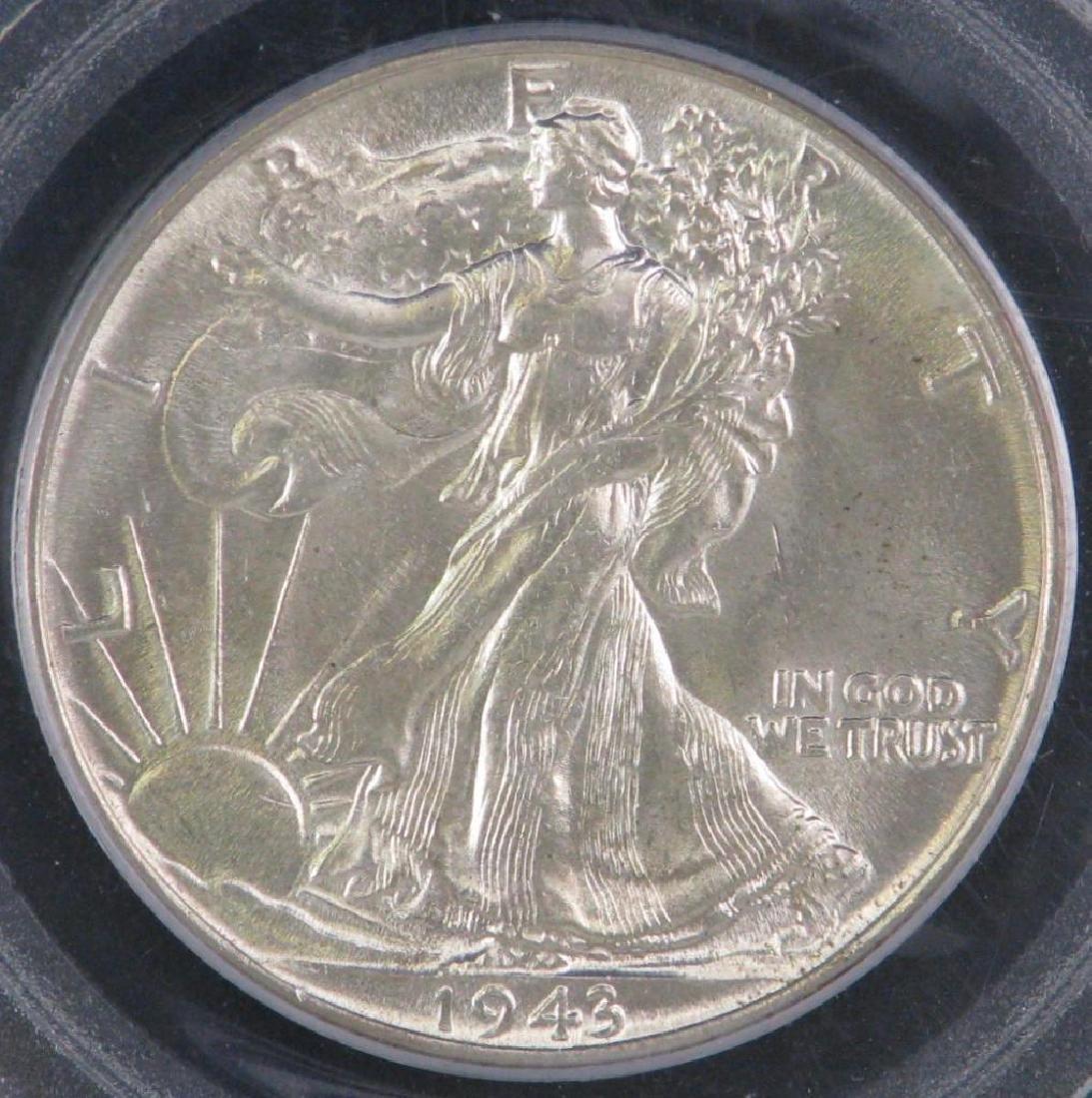 1943-P Walking Liberty Half Dollar - 3