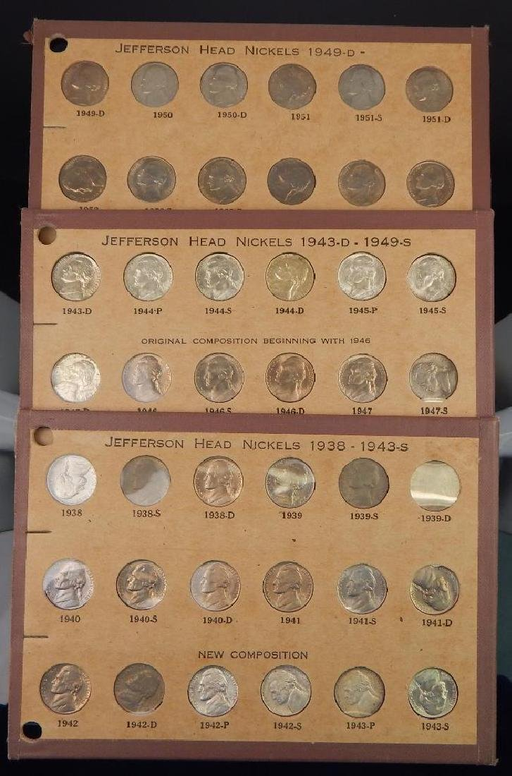 Jefferson Nickel Collection 1938-1953 BU