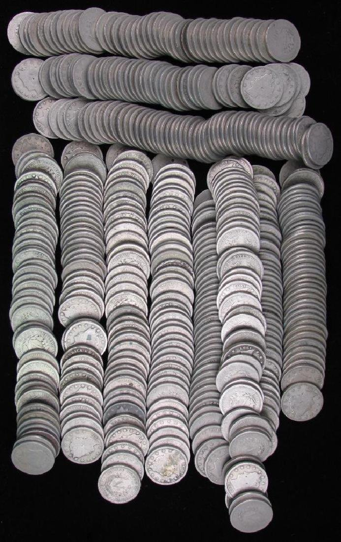Large Lot of Liberty Head Nickels 1904-1911