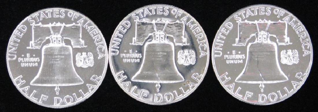 Lot of 3 : Franklin Half Dollars (1960-1961) - 2