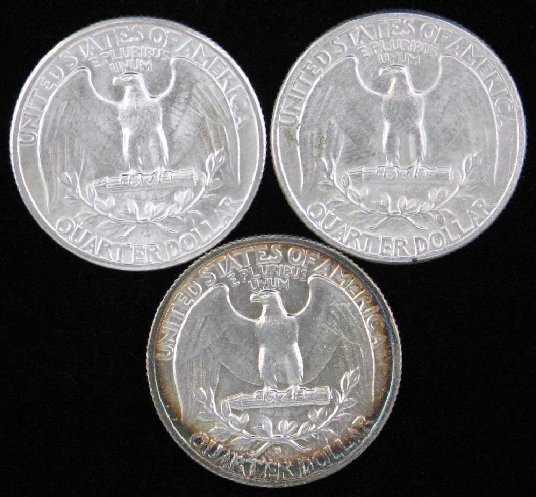 Lot of 3 : Washington Quarters (1941-P) - 2