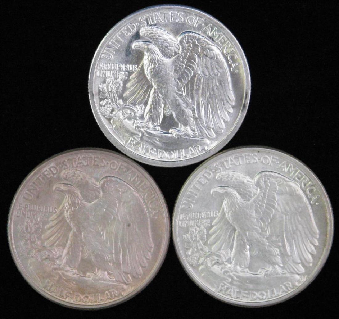 Lot of 3 : Walking Liberty Half Dollars (1943-1946) - 2