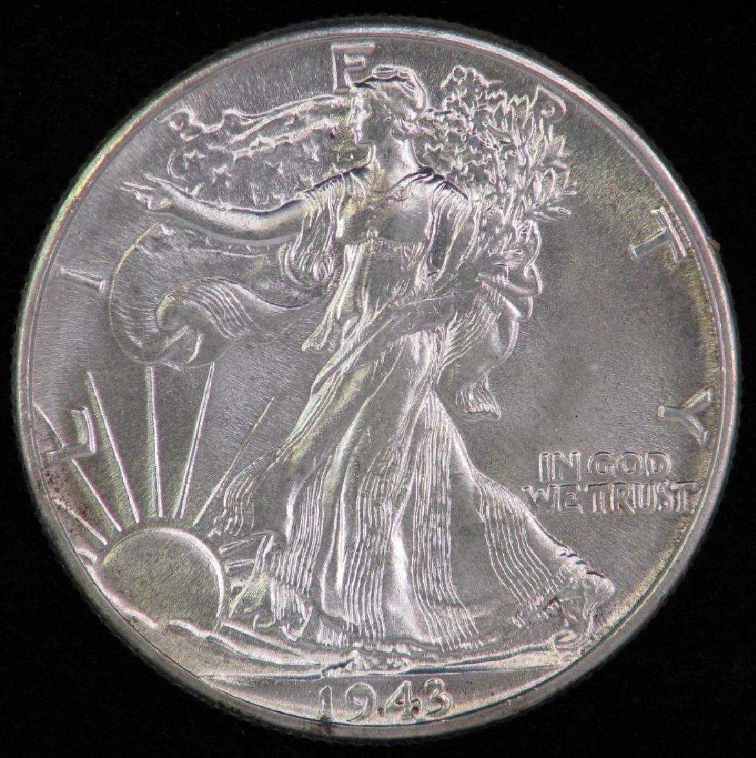 1943-P Walking Liberty Half Dollar
