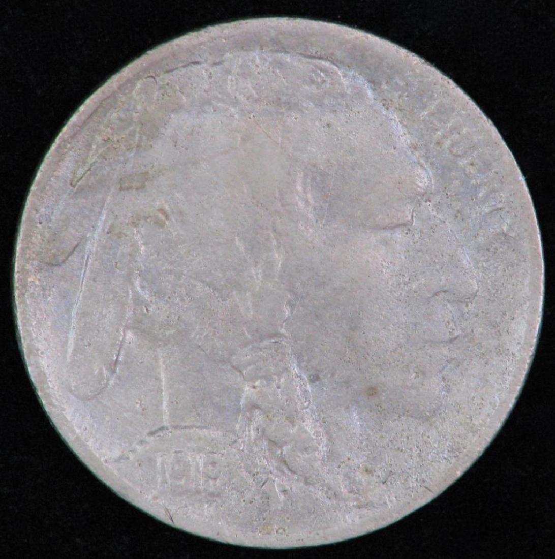 Lot of 2 coins : 1943-D Mercury Dime +1919-D Buffalo - 4