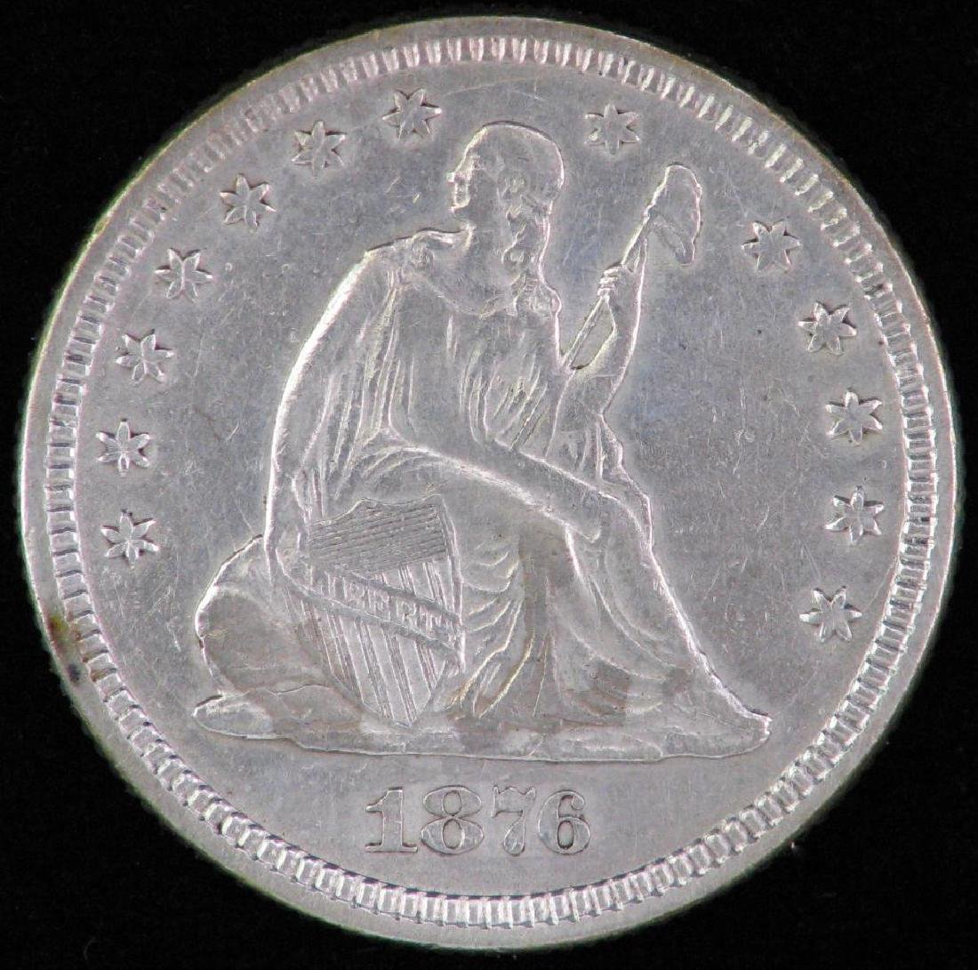 1876-P Liberty Seated Quarter