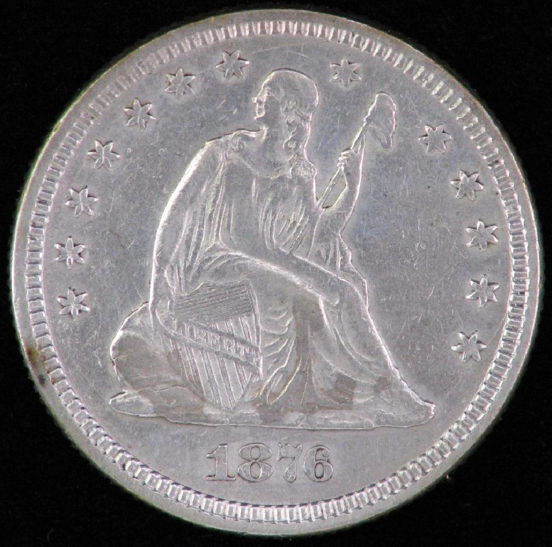 1876-P Liberty Seated Quarter