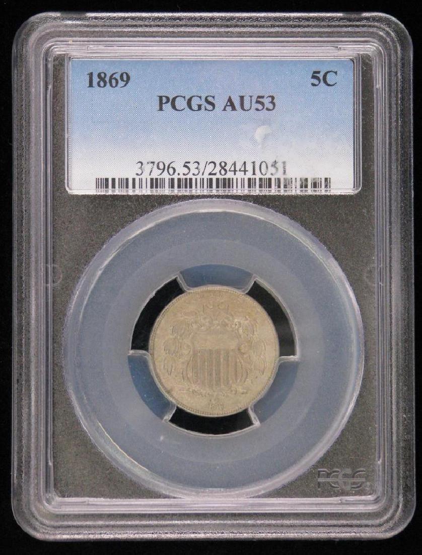 1869-P Shield Nickel