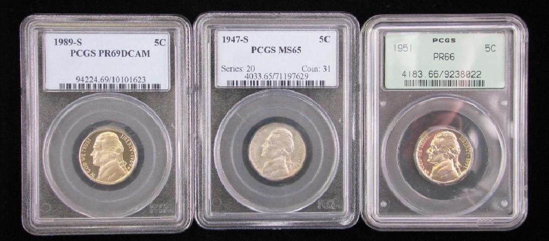 Lot of 3 : Jefferson Nickels (1947-S, 1951-P, 1989-S)