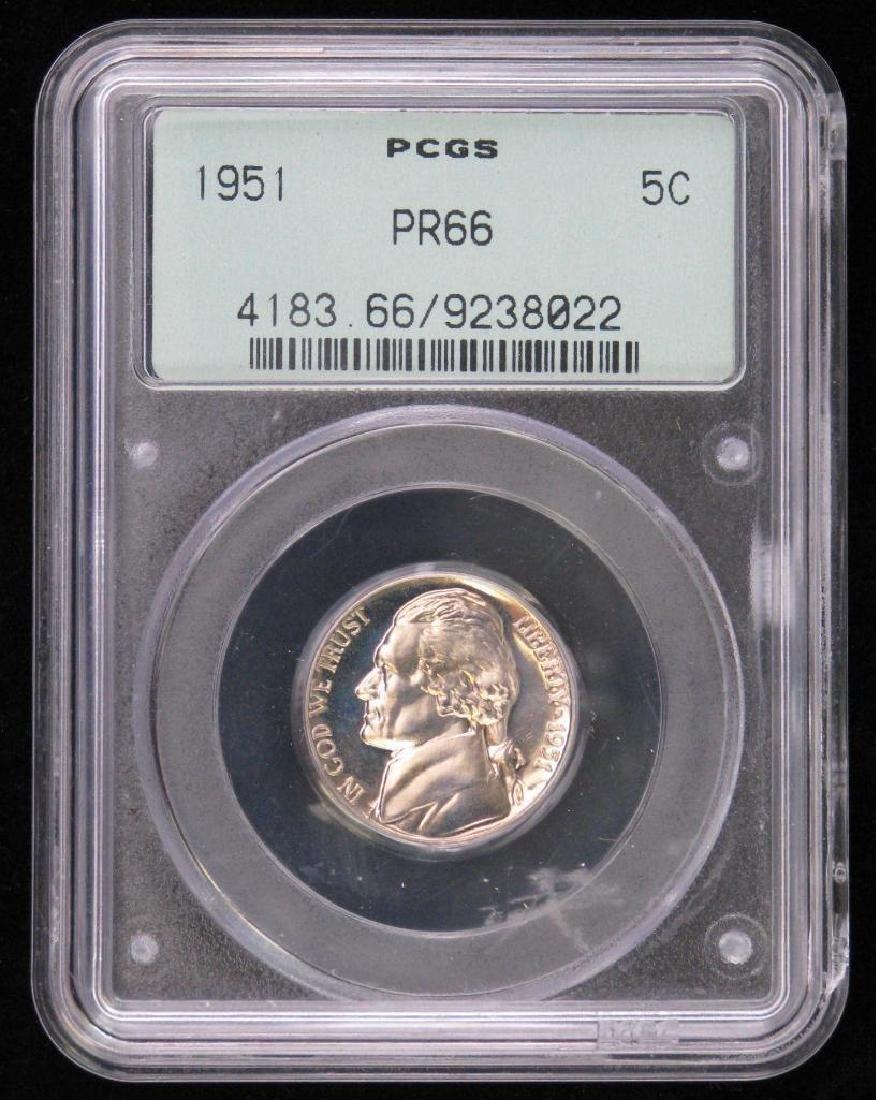 Lot of 3 : Jefferson Nickels (1947-S, 1951-P, 1989-S) - 2