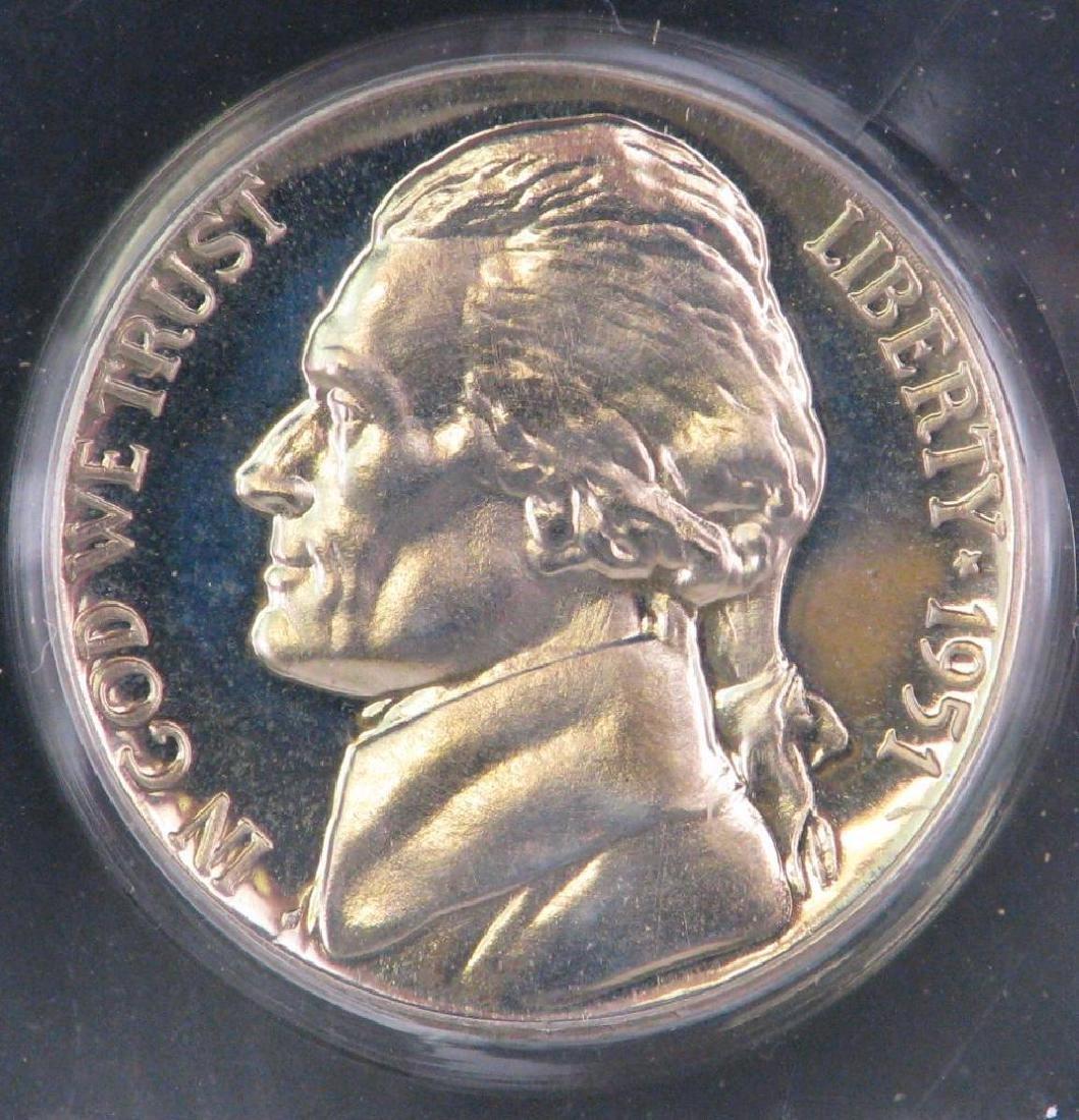 Lot of 3 : Jefferson Nickels (1947-S, 1951-P, 1989-S) - 4