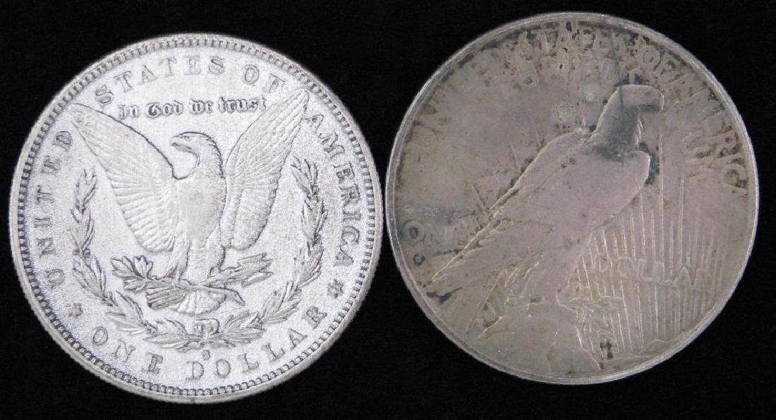 Lot of 2 Silver Dollars : 1884-S Morgan Dollar and - 2