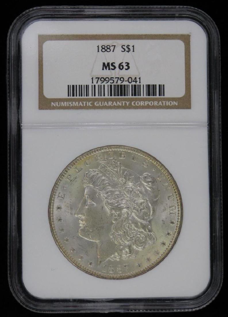 Lot of 2 : Morgan Dollars (1887-P; 1889-P) - 2