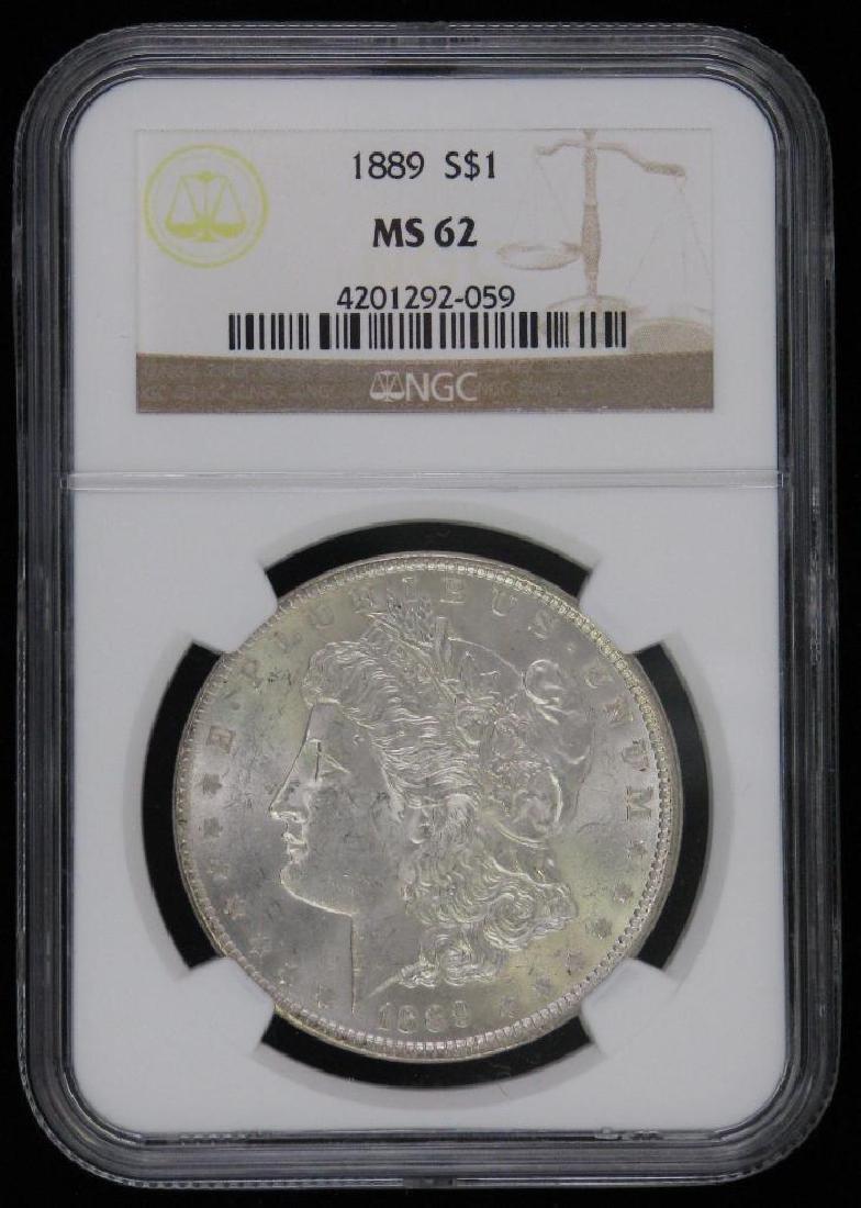 Lot of 2 : Morgan Dollars (1887-P; 1889-P) - 3