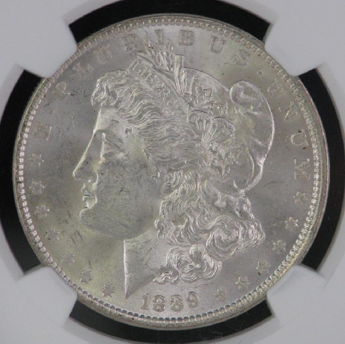 Lot of 2 : Morgan Dollars (1887-P; 1889-P) - 6