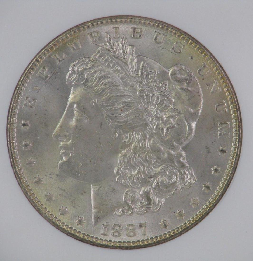 Lot of 2 : Morgan Dollars (1887-P; 1889-P) - 8