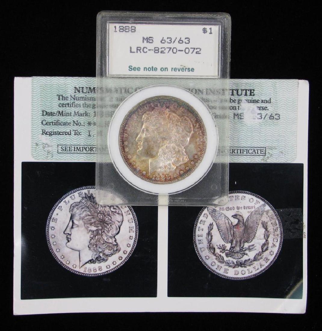 1888-P Morgan Dollar NCI MS63