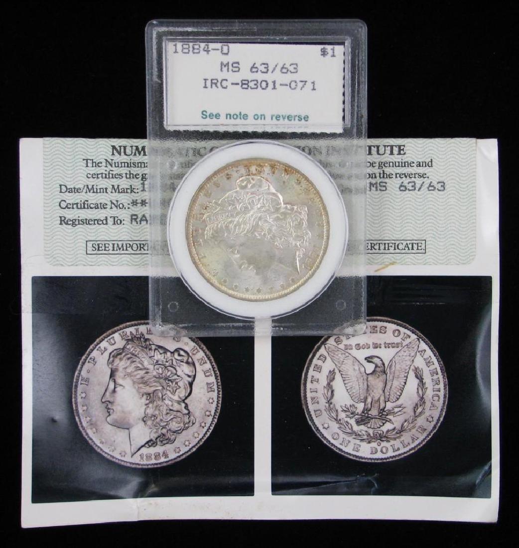 1884-OÊMorgan Dollar NCI MS63