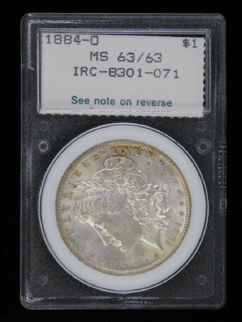 1884-OÊMorgan Dollar NCI MS63 - 2